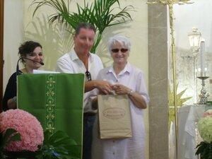 28/08/2010: omaggio a Luciana autrice del dipinto 'Maria Auxilium Christianorum