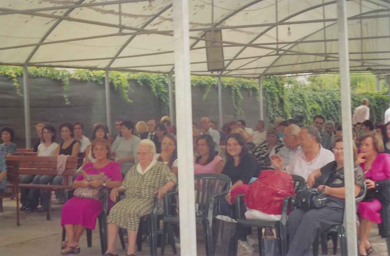 28/08/2005 Più di cento pellegrini provenienti da sette regioni italiane radunati per la santa messa a Sabaudia