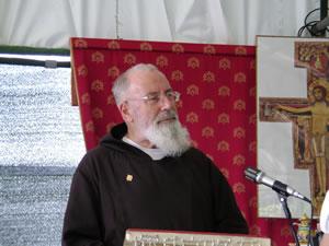 28/08/2009, Sabaudia : Padre Bernardino Bucci celebra la santa Messa
