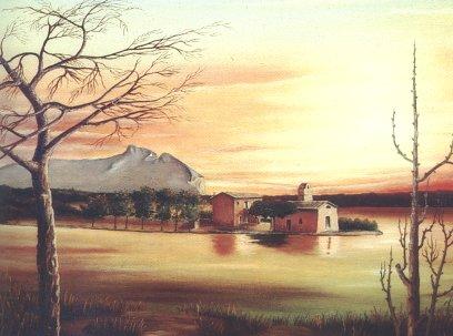 Santuario della Sorresca sul lago Paola, Sabaudia (LT)